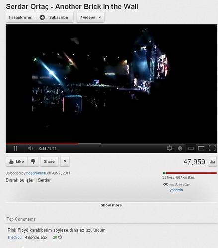 Youtube Serdar Ortaç Yorum