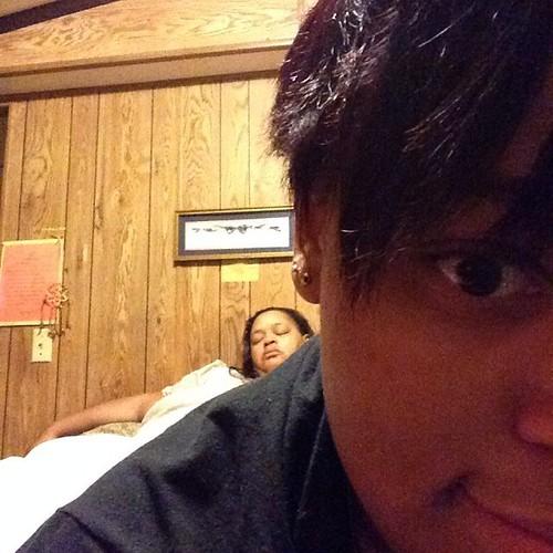 Rai caught me sleeping!