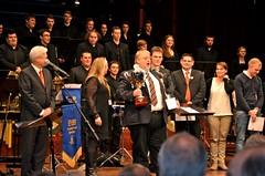 EM 2013 - The Cory Band, europamästare 2013. Manager Austin Davies tar ton! (foto. Olof Forsberg)