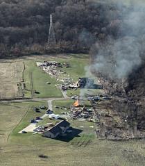 Aerial view of the EF-4 tornado that hit Washington, Illinois on November 17, 2013