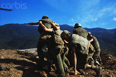 09 Oct 1968, Thuong Duc, Vietnam - American Marines atop Hillside near Outpost