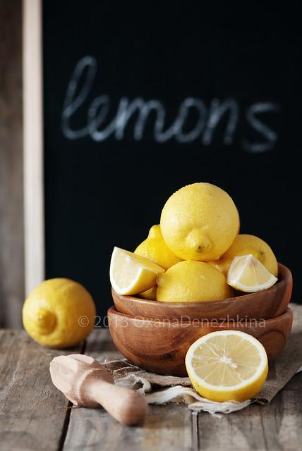 Lemon and chalk board