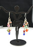 Multi-color crystals and copper beads dangles - DSC_1183