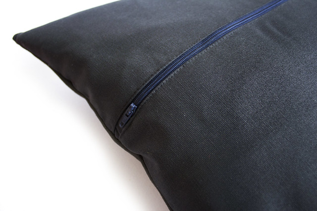 Zippered back cushion