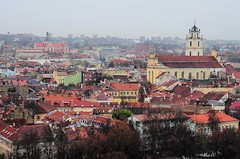 A view of Vilnius from the Gediminas' tower