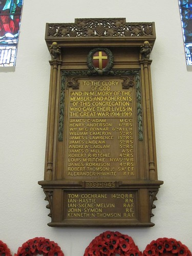 Fountainhall Road Church memorial