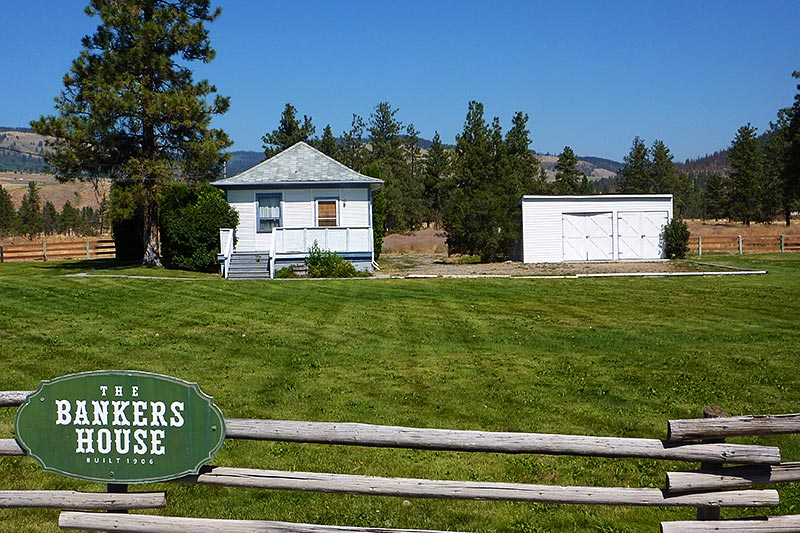 Heritage Bankers House on Highway 5A near Quilchena, British Columbia