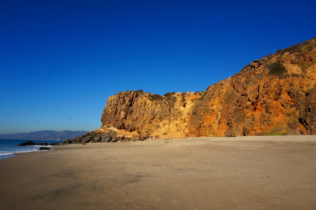 Cliff on the tip of Malibu