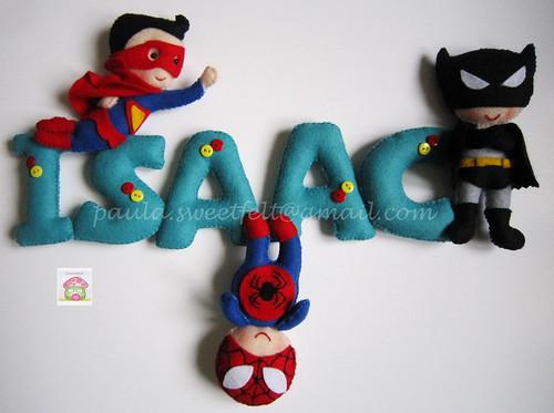 ♥♥♥ Super heróis a caminho do Canadá para o quartinho do Isaac... by sweetfelt \ ideias em feltro