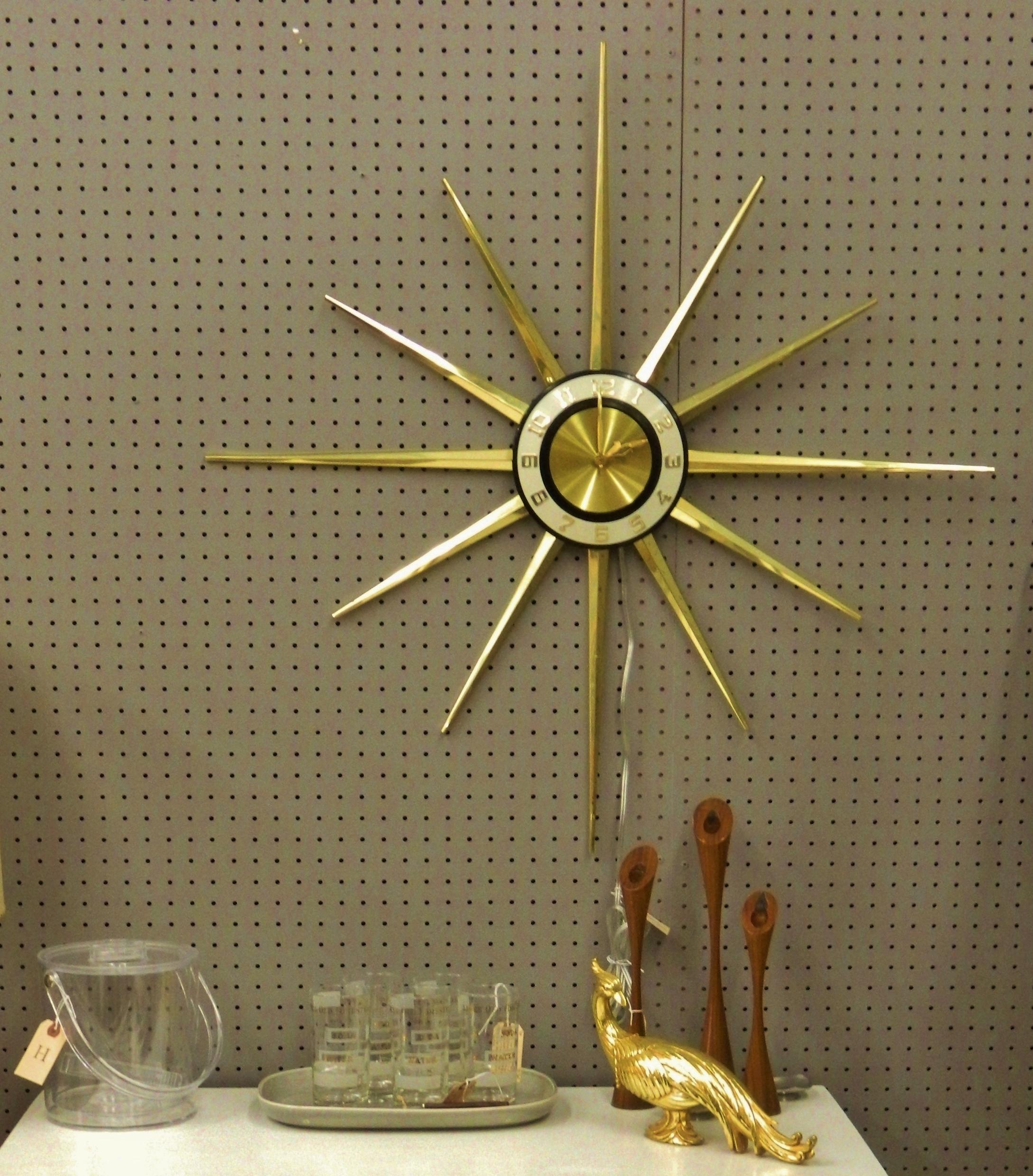 gold starburst clock