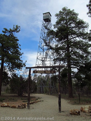 The Grandview Fire Lookout Tower, as seen from near the road, Kaibab National Forest, Grand Canyon National Park, Arizona