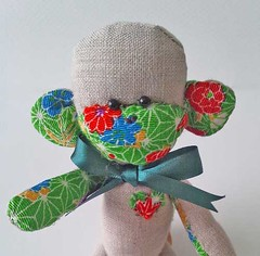 Sock Monkey Style Fabric Monkey