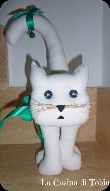 Gatto fermalibri bianco