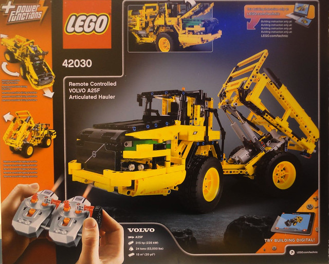 LEGO Technic 42030 - Volvo A25F Articulated Hauler
