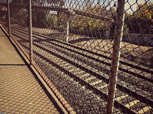 fenced off tracks