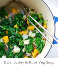 Kale, Barley & Root Veg Soup