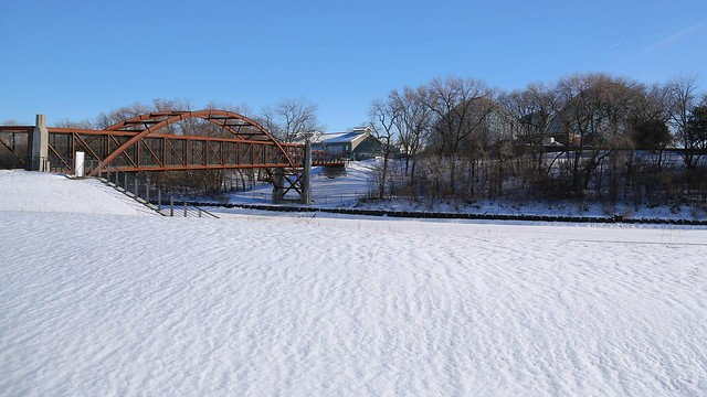 Bridge, Snow, Domes @ 3 Bridges Park