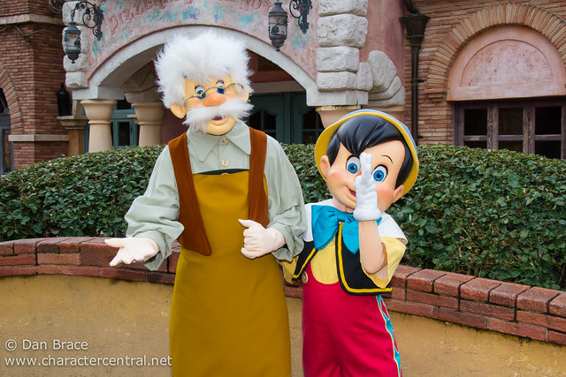 Meeting Pinocchio and Geppetto