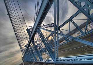 John A. Roebling Suspension Bridge Cincinnati Ohio by sheldn