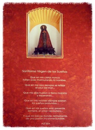 SantÍsima Virgen de los sueños.