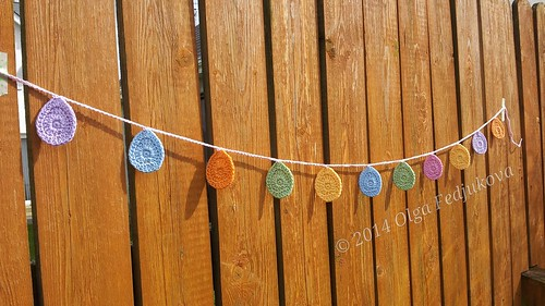 Crochet Easter Egg Garland of Patons Cotton