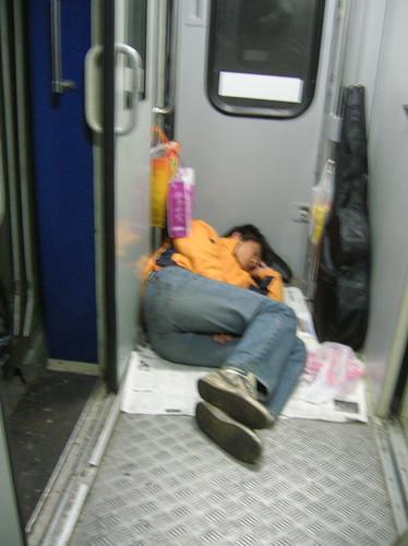 Sleeping on Chinese Train