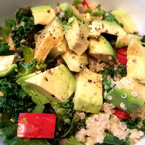 Quick quinoa bowl