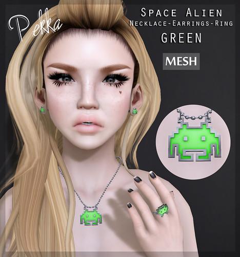 space alien green