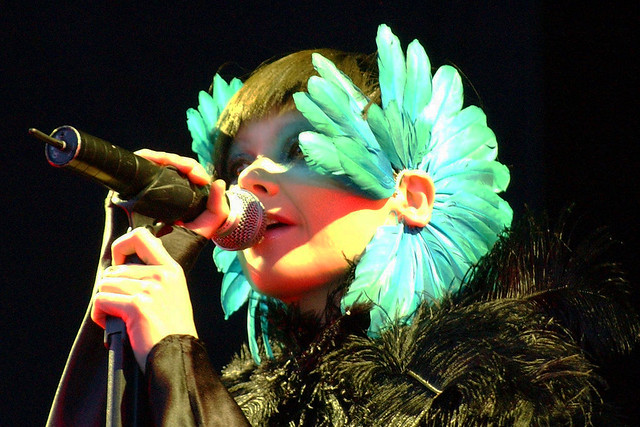 Björk at the Hurricane Festival © Zach Klein, 2003