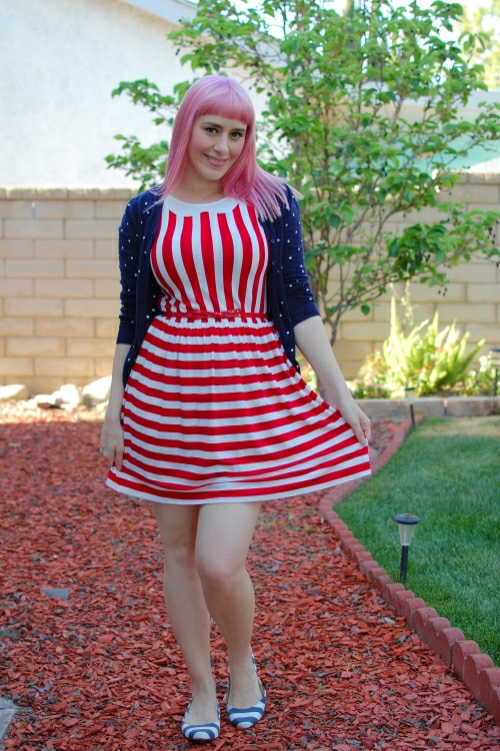 Ruche striped dress 6