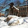 Framingham ram in snow