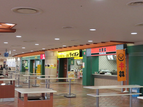 小倉競馬場の2階ファーストフードプラザ