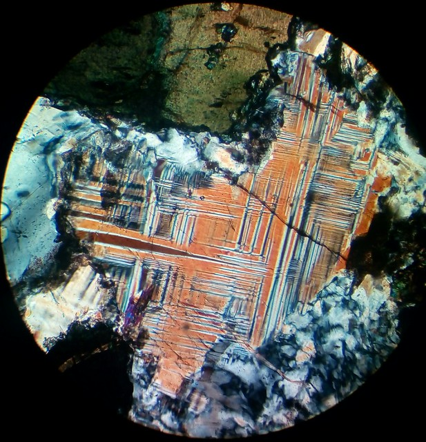 Microcline (30 µm thin section, XPL)