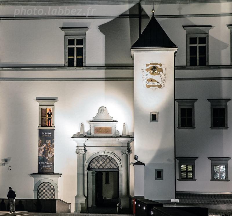 trompettiste dans le Palais des Grands Ducs de Lituanie, Vilnius