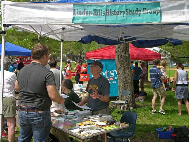 2013 Linden Hills Festival History Study Group booth