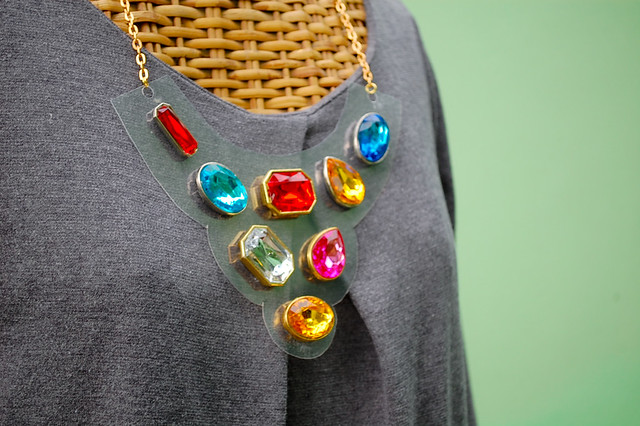 diy kate spade cameo jewels bib necklace