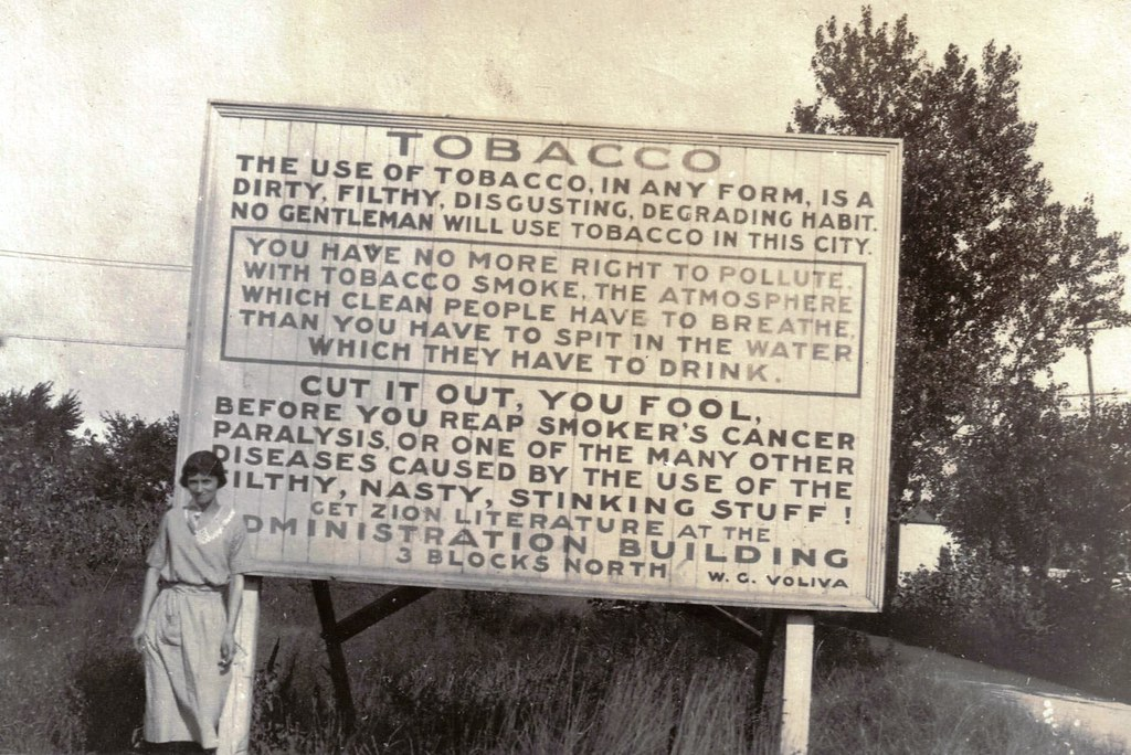 Anti-Smoking Sign, circa 1915
