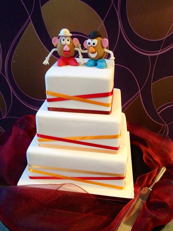 Mr Mrs Potato Head Cake Toppers