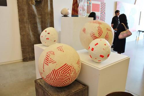 McGee's paper mache spheres.