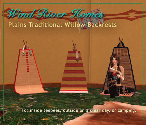 Plains Traditional Willow Backrests by Teal Freenote