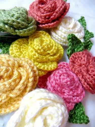 Crochet Rose Pile