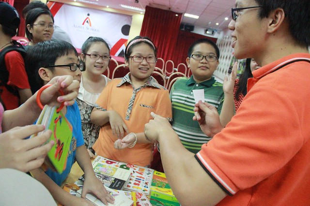 Khu trại Kỹ năng cũng thu hút sự tham gia của nhiều bạn nhỏ