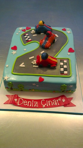 Race Car 2nd Birthday by CAKE Amsterdam - Cakes by ZOBOT