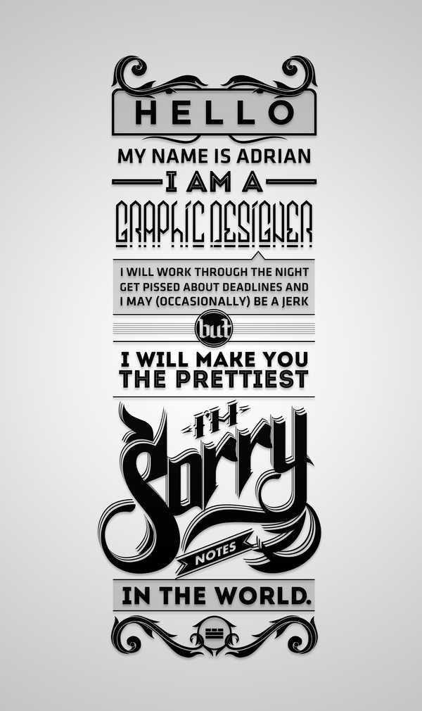 ejercicios tipográficos