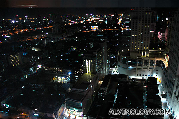 Bangkok night view from our hotel room
