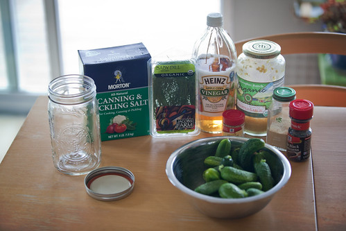 Ingredients for Refrigerator Pickles