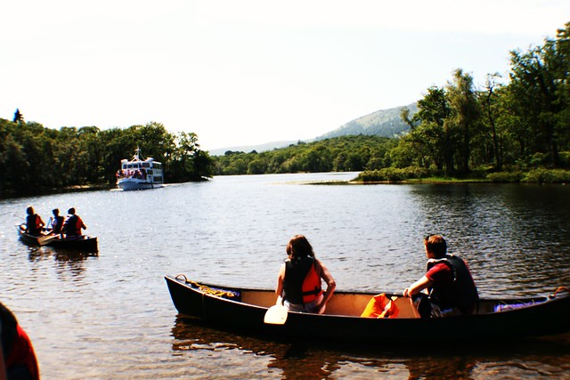 Canoeing on Loch Lomond, Scotland
