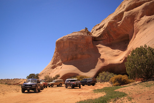 Plenty of great trucks on our Dome Plateau Run