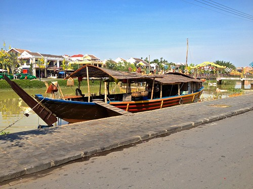 In Vietnam, cafes aren't just on the street… they are in docked boats too!