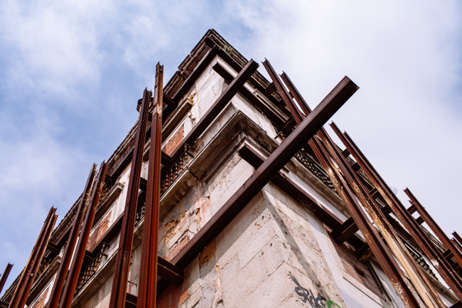 Lisbon scaffolding